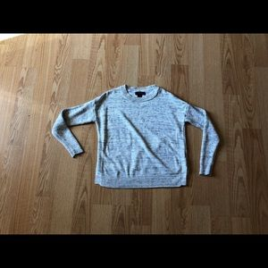 Tahari knit sweater gray Small work casual
